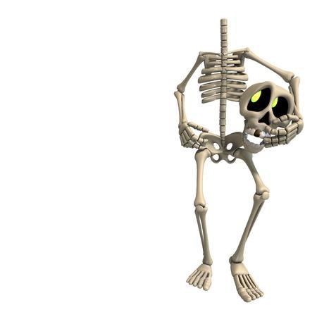 perish: very funny cartoon skeleton  Stock Photo