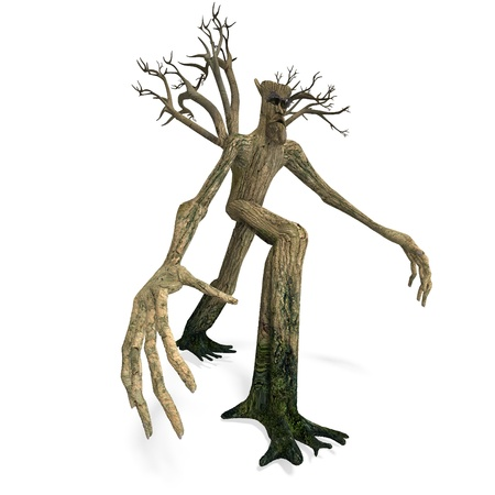 ENT: The Ent - Keeper of the forest. 3D rendering with  d shadow over white