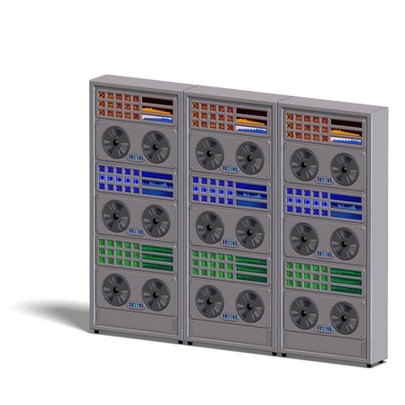automat: a historic science fiction computer or mainframe. 3D rendering  Stock Photo