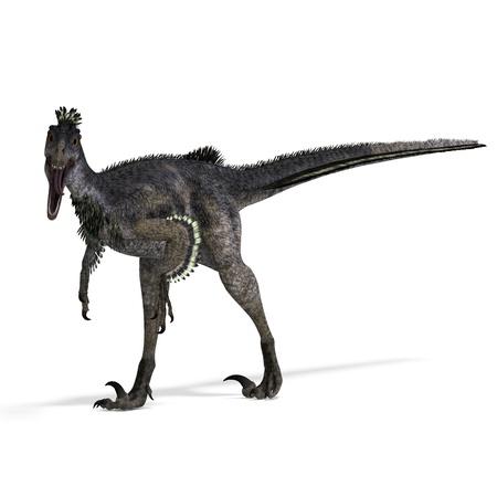 primeval: Dinosaur Velociraptor. 3D rendering