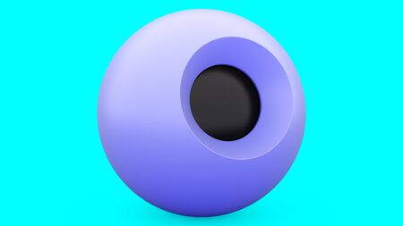 Magic 8 ball blue sphere, great design for any purposes. 3d illustration. abstract. Modern design element. Decoration element. Pearl transparent bubble. Art design.