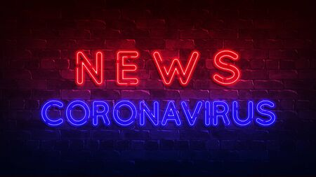 Coronavirus news neon sign.