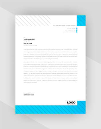 Abstract letterhead template design With Business Style. Vector Illustration