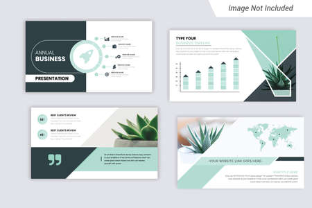 Corporate Business Presentation Template Design With Infograph.