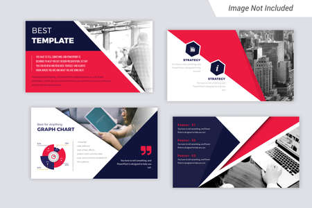 Business presentation template in flat style.