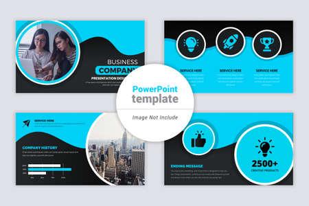 Purple Gradient color Business presentation Slides Design Ilustración de vector