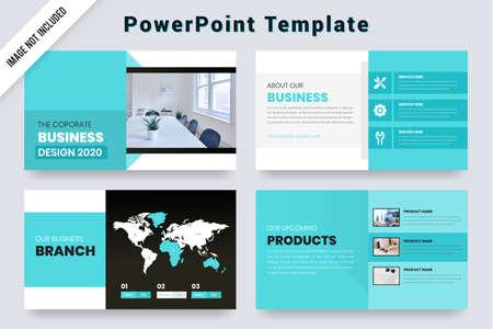 Purple Gradient color Business presentation Slides Design Векторная Иллюстрация
