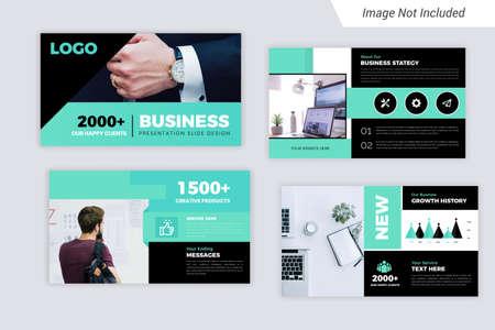 Green Color Corporate Business presentation Slides Design Vetores