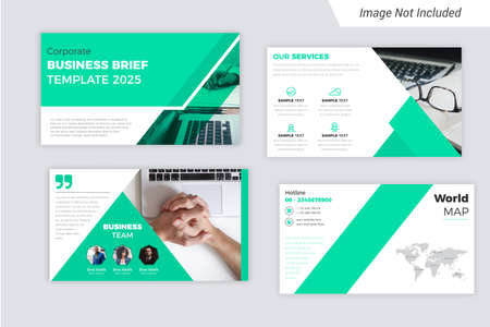 Green Color Corporate Business presentation Slides Design