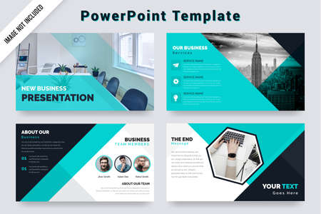 Abstract bifold business brochure deisgn green and black color Ilustracje wektorowe