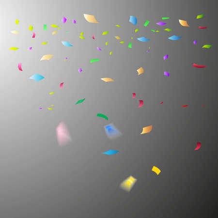 Colorful confetti. Festive of falling shiny confetti isolated on transparent background. Holidays design. Colorful bright confetti background. Vecteurs