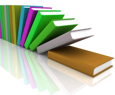 books isolated on background white Stock Photo - 11845378