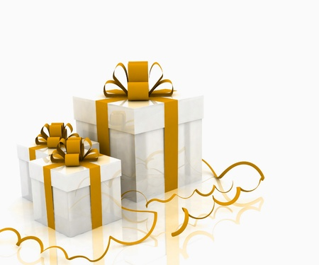 Illustration of boxes with christmas gifts Stock Illustration - 11845341