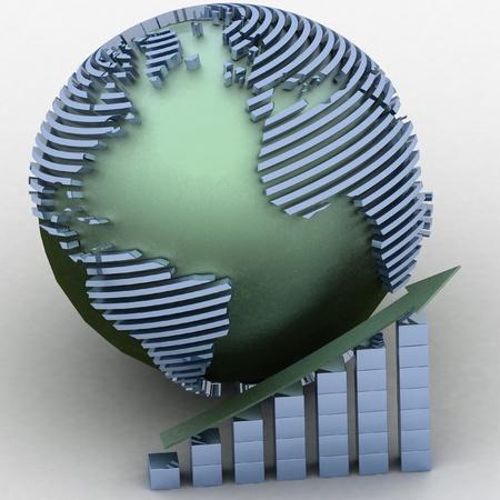 Global success concept photo