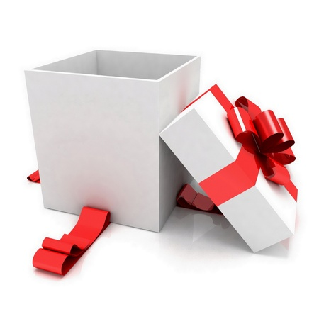 illustration of empty box for Christmas gift illustration