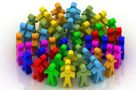 сообщество: 3D люди в круг
