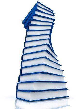 Stacks of books isolated on white background Stock Photo