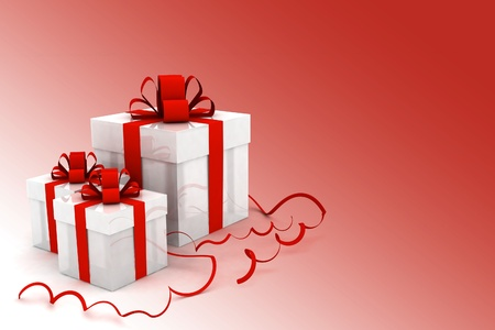 Illustration of boxes with christmas gifts Stock Illustration - 11845764