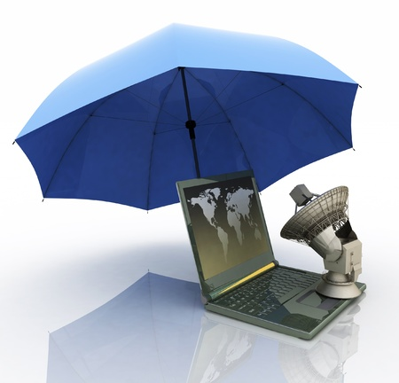 defence of the personal information is in global network Stock Photo - 11845965