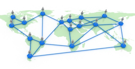 network map of the world Stock Photo - 11846000