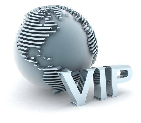 3d VIP globe  photo