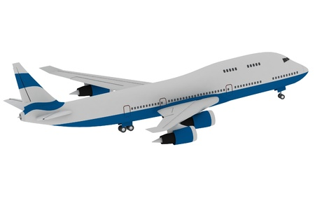 airbus: Airplane isolated on white background Stock Photo