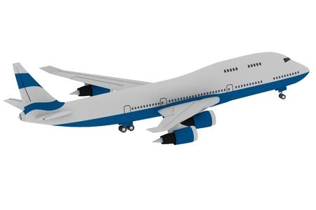 aviones pasajeros: Avi�n aislado en fondo blanco Foto de archivo