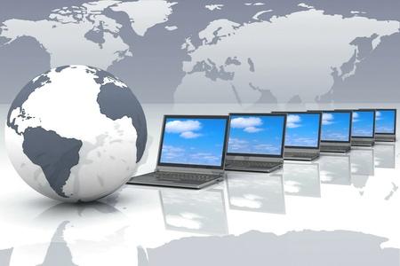 Concepto de Internet de los negocios globales Foto de archivo
