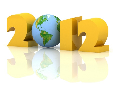 2012 year. Isolated 3D image photo