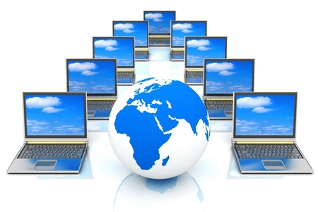 Internet Concept of global business photo
