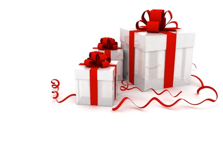 Illustration of boxes with christmas gifts Stock Illustration - 11845943