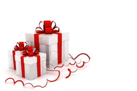 Illustration of boxes with christmas gifts illustration