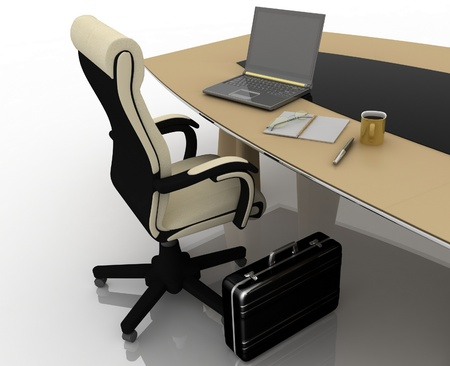workplace at the table for negotiations Stock Photo - 11895921
