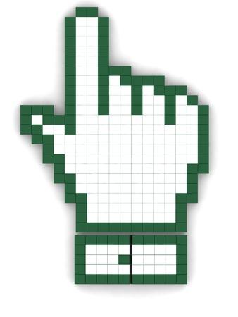 3d illustration hand mouse symbol Stock Illustration - 11894682