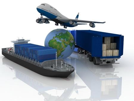 tipo de transporte de transporte de cargas son. Foto de archivo - 11895901
