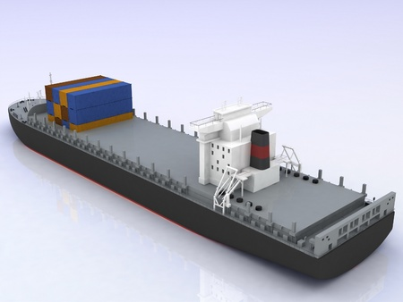 cargo ship Stock Photo - 11895898
