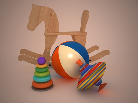 3d child's toys Stock Photo - 11946621