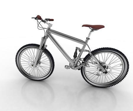 palanca de cambios: Bicicleta sobre fondo blanco Foto de archivo