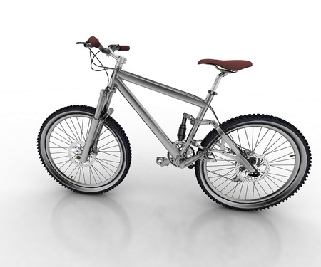 shifter: Bicycle isolated on white background