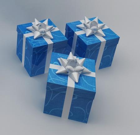Beautiful gift boxes photo