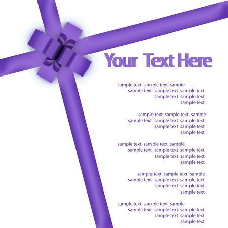 bestowal: Greeting card with a violet ribbon
