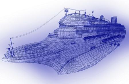 3d model luxury liner Stock Photo - 11947129