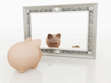 depository: Piggy at the mirror