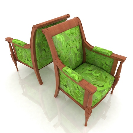 elbowchair: Close-up view of the two old elbow-chair