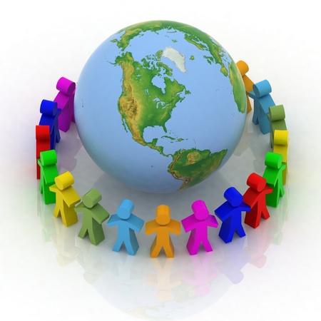 World partnership. 3d image isolated on white background. photo