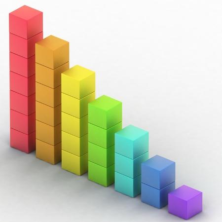 simple diagram of simple diagram of even decline Stock Photo