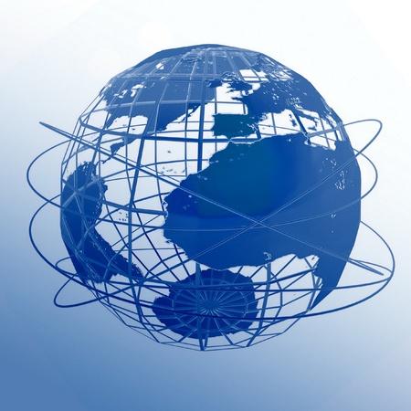 Globe art on the white background Stock Photo