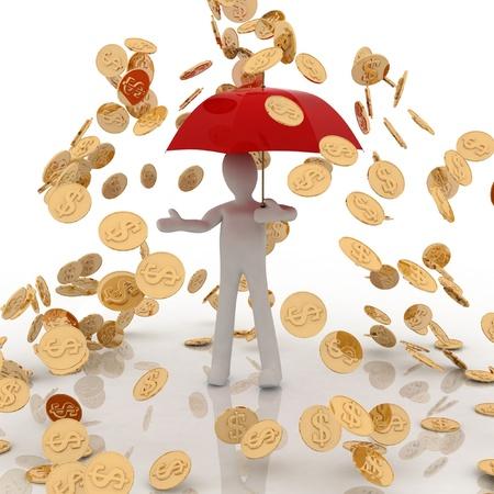 buena suerte: lluvia de monedas de oro