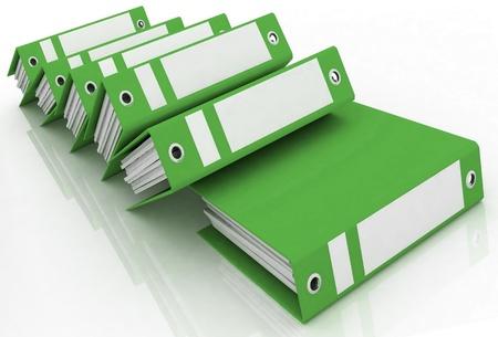 carpeta: Carpetas para documentos aislados sobre un fondo blanco Foto de archivo