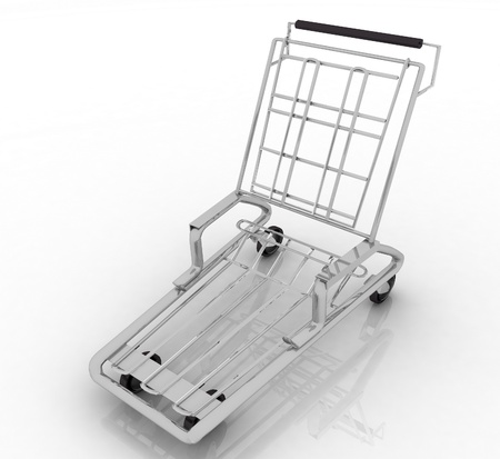 hand truck on white background. Isolated 3D render  photo